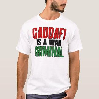 T-shirt Gaddafi est un criminel de guerre