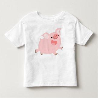 T-shirt gai d'enfants de porc de bande dessinée
