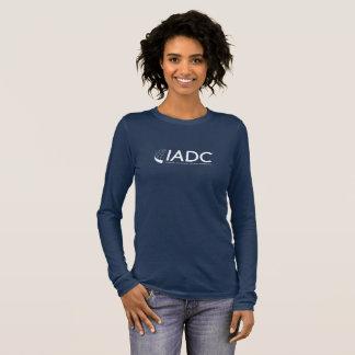 T-shirt gainé des femmes d'IADC le long - marine