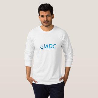 T-shirt gainé des hommes d'IADC le long - blanc