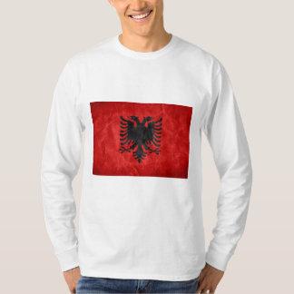 T-shirt gainé graphique de drapeau albanais long