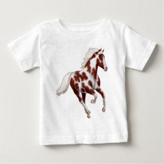 T-shirt galopant de nourrisson de cheval de