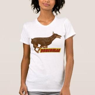 T-shirt Galoper Dobermann-rouge