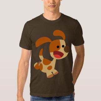 T-shirt gambadant mignon de chien de bande