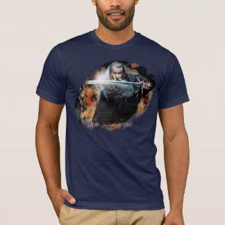 T-shirt Gandalf avec l'épée dans la bataille