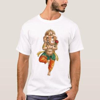 T-shirt Ganesha dans une pose de yoga de Vrksasana (arbre)