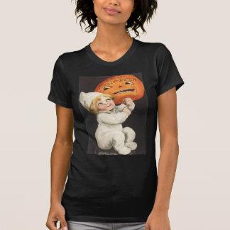 T-shirt Garçon de blonde de Jack-o'-lantern de citrouille