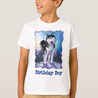 T-shirt Garçon enroué mignon d'anniversaire de têtes et de