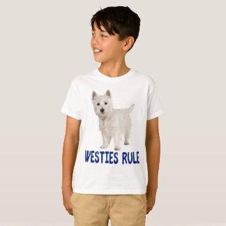 T-shirt Garçons des montagnes occidentaux blancs de Westie