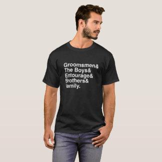 T-shirt Garçons d'honneur assortissant la pièce en t