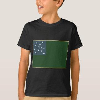 T-shirt Garçons verts de montagne et le drapeau de