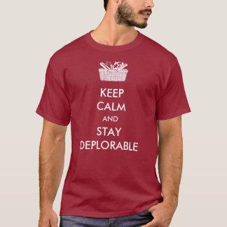 T-shirt Gardez Deplorables calme