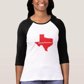 T-shirt Gardez la chemise des femmes rouges du Texas