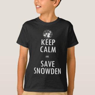 T-shirt Gardez la chemise d'obscurité de Snowden