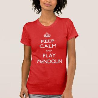 T-shirt Gardez la mandoline de calme et de jeu (continuez)