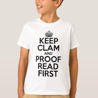 T-shirt Gardez la palourde et corrigez sur épreuves le