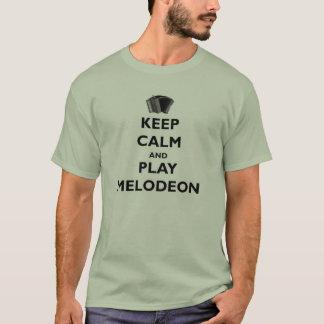 T-shirt Gardez la pièce en t de Melodeon de calme et de