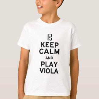 T-shirt Gardez l'alto de calme et de jeu
