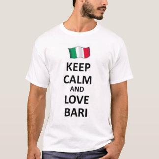 T-shirt Gardez le calme et aimez Bari