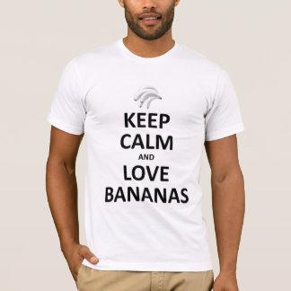 T-shirt Gardez le calme et aimez les bananes