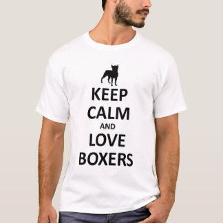 T-shirt Gardez le calme et aimez les boxeurs