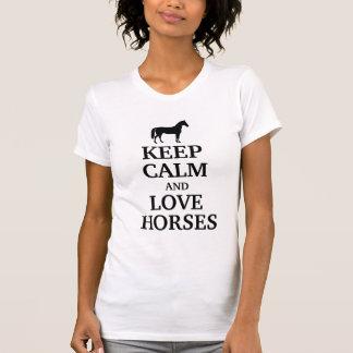 T-shirt Gardez le calme et aimez les chevaux