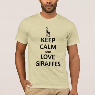 T-shirt Gardez le calme et aimez les girafes