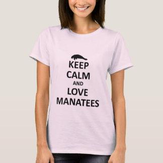 T-shirt Gardez le calme et aimez les lamantins