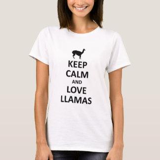 T-shirt gardez le calme et aimez les lamas