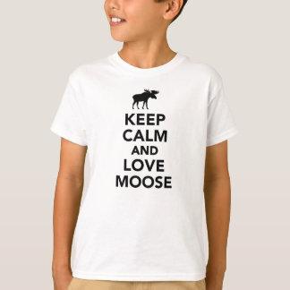 T-shirt Gardez le calme et aimez les orignaux
