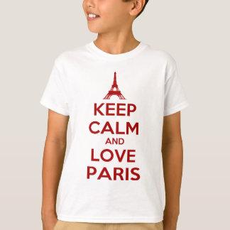 T-shirt Gardez le calme et aimez Paris
