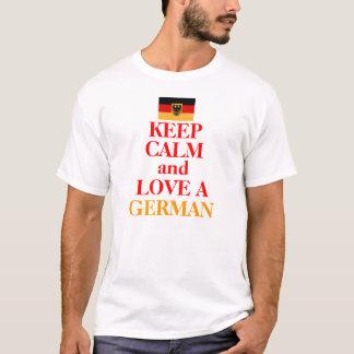 T-shirt Gardez le calme et aimez UN ALLEMAND