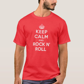 T-shirt Gardez le calme et basculez le petit pain de n