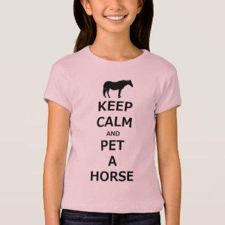 T-shirt Gardez le calme et choyez un cheval