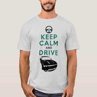 T-shirt Gardez le calme et conduisez - le challengeur