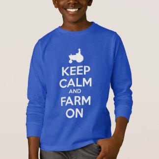 T-shirt Gardez le calme et cultivez dessus