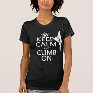 T-shirt Gardez le calme et élevez-vous sur (la couleur
