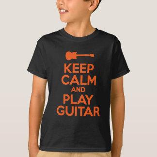 T-shirt Gardez le calme et la conception de cool de
