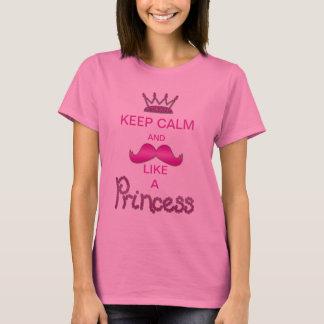 T-shirt Gardez le calme et la moustache comme une