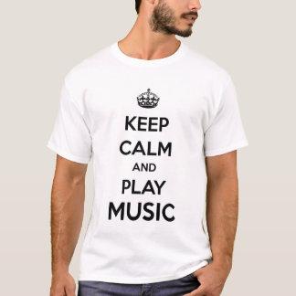 T-shirt Gardez le calme et la musique de jeu