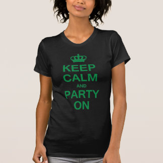 T-shirt Gardez le calme et la partie dessus
