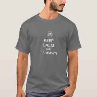 T-shirt Gardez le calme et la pièce en t de Respawn