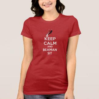 T-shirt Gardez le calme et le Beaman pour se reposer