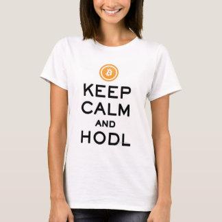 T-shirt Gardez le calme et le #Bitcoin de HODL