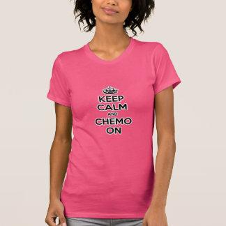 T-shirt Gardez le calme et le chimio dessus