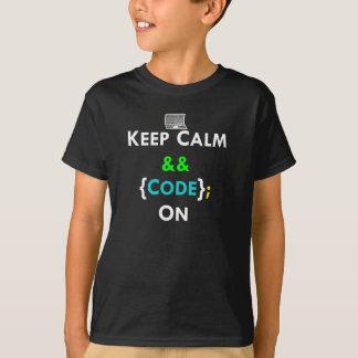 T-shirt Gardez le calme et le code dessus