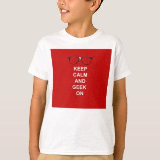 T-shirt Gardez le calme et le geek dessus
