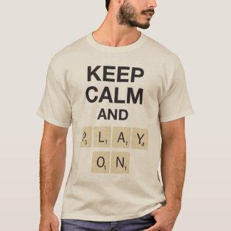 T-shirt Gardez le calme et le jeu dessus