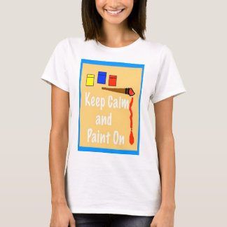 T-shirt Gardez le calme et le peignez dessus