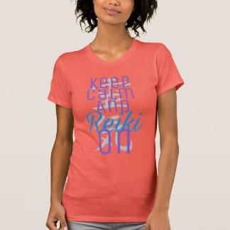 T-shirt Gardez le calme et le Reiki dessus